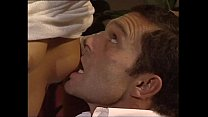 She gives a  blow job to her boss who cums in her face