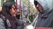 Real Amsterd am hookers in threesome