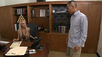 thumb Stacey Saran Amwf Office Sex With Asian Guy