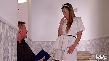 thumb Lucky Fucka Gets A Double Blowjob By His Wife Amp A Maid