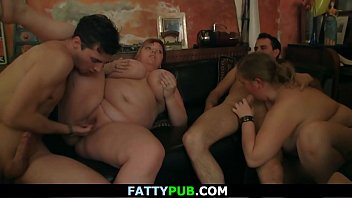thumb Group Bbw Orgy In The Fat Bar