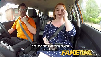 thumb Fake Driving School Voluptuous Redhead Fucks In Car