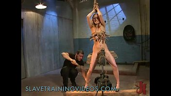 thumb Busty Blonde Hottie Gets Slave Training