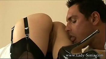 thumb Milf Cougar Lady Sonia Strokes A Cock And Eats His Load