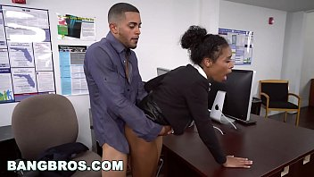 cover video  Big Tits Ebony Babe Ivy Young Gets Ahead In The Office