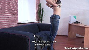 cover video Tricky Agent Hiding From The Rain A Brunette Dasha Is Trapped