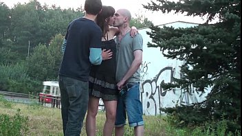 thumb Public Sex Threesome Orgy With A Pretty Girl