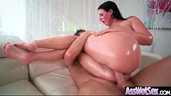 thumb Big Ass Girl Angela White Get Oiled Up And Hard Analy Nailed On Cam Mov 07