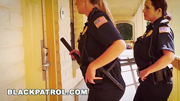 cover video Black Patrol White Cops With Big Tits Riding Big Black Cock On The Job