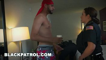 thumb Black Patrol White Cops With Big Tits Riding Big Black Cock On The Job
