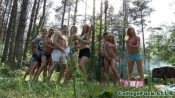 thumb College Orgyteens Anal Outdoor Cumfest Party