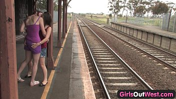 thumb Girls Out West Hairy And Shaved Lesbians At The Train Station