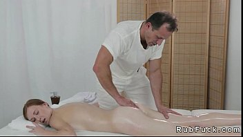 thumb Pale Redhead Fucked By Masseur On A Table