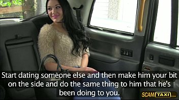 thumb Hottie Brunette Carmel Gets Tricked By The Driver Into Fuck