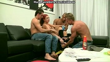 thumb Hard Group Sex With A Red Maid