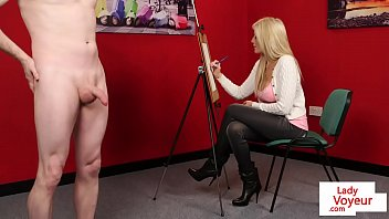 thumb Busty British Voyeur Watches Guy Jerk