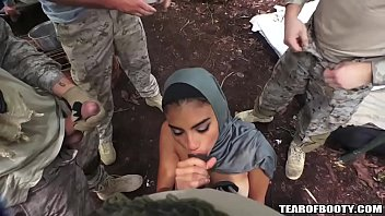 cover video Arab Booty Babe Banged By Several Guys
