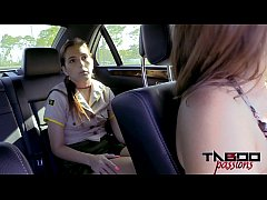 thumb horny teen brooke haze gives stepdad blowjob while mom drives
