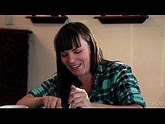 thumb chastity lynn fucks an older woman in paint scene 02