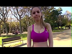 thumb stella cox worksout in public park