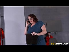 thumb busty mom maggie green takes two bbcs in a jail