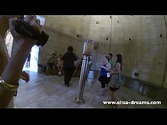thumb flashing nude under my transparent dress in pisa