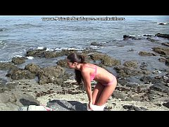 thumb hot amateur porn with awesome sex on the beach scene 2