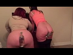 thumb big booty queens virgo peridot and marcy diamond bottles in their ass cracks