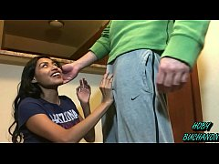 thumb shy college  teen rough sloppy face fucking audition