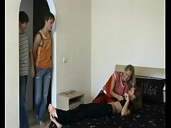thumb russian foursome sex with irina and olya