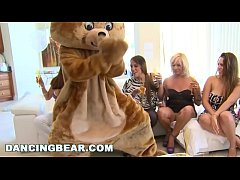thumb dancing bear   another cfnm cock patry with crazy girls sucking off dudes