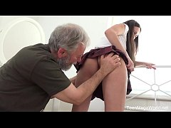 thumb old n young com   lana ray   sweetie takes old cumload on tits