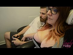 thumb gamergirl gets her face and throat fucked for facial achievement