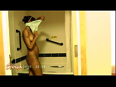 thumb indian porns tar divya stripping naked exposing her bigtits in shower