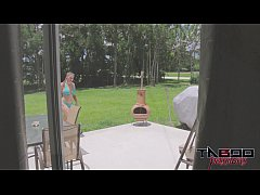 thumb bratty sister melanie hicks in bikini gets the business by brother