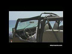 thumb amanda blowjob and anal sex in the jeep