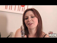 thumb redhead elli shows you how she likes to get fucked with glass dildo