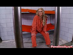 thumb puma swede gives new cell mate her dick
