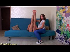 thumb real cute flexi teen doll stretched