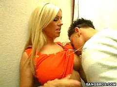 thumb milf soup  blonde bombshell gets it in dressing room