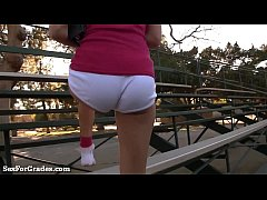 thumb schoolgirl s tight pussy gets stretched