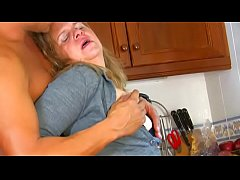 thumb housewife mistreated and fucked in the kitchen while she wash the dishes