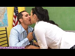 thumb school girl jelena jensen gets facial for extra credit
