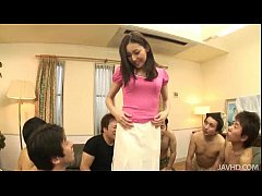 thumb six guys wat ch and drool as nozomi mashiro strips at a party