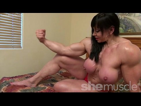 cover video naked female bodybuilder topless flexing
