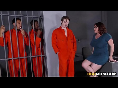 cover video busty mom maggie green takes two bbcs in a jail