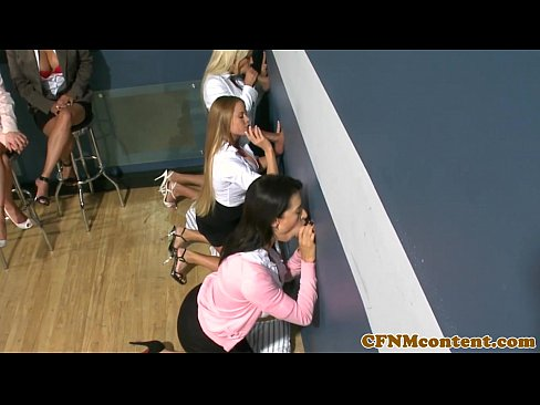 cover video classy cfnm milfs have fun at a glory hole