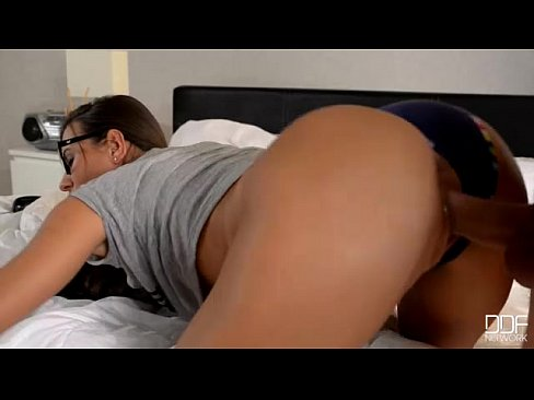 cover video czech party  girl with glasses in hot anal sex session